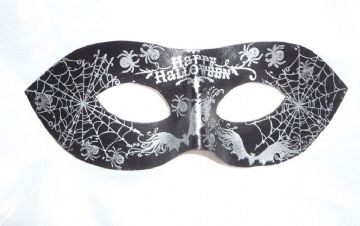 Exclusive Genuine Handmade Silver Leather Halloween Mask (1)